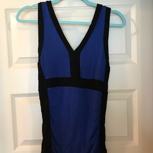 Maurices blue and black v neck tank